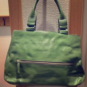 Forest Green Kenneth Cole Leather Bag